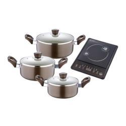 BERGNER - Trem Cozinha Fiona 3 peças+placa induçã