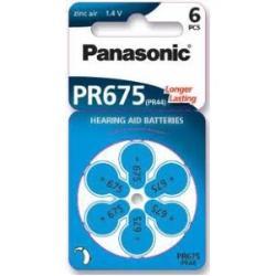 PANASONIC - DISCO 6 PILHAS AUDITIVAS - PR675L/6LB