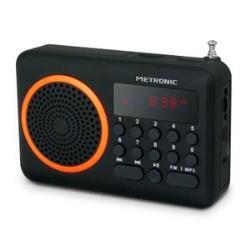 METRONIC - Rádio Portátil Laranja 477204
