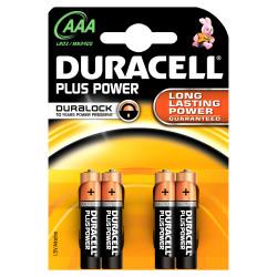 DURACELL - Pilha Alc Plus PowerAAA BL4 LR03-MN2400