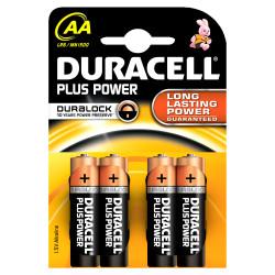 DURACELL - Pilha Alc Plus Power AA Bl4 LR6-MN1500