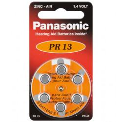 PANASONIC - DISCO 6 PILHAS AUDITIVAS - PR13L/6LB