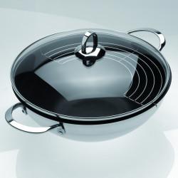 TEKA - Panela wok 28 anti-aderente c/tampa vidro