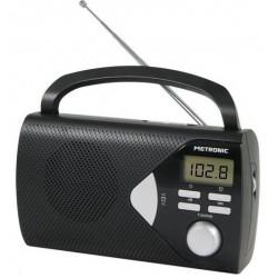 METRONIC - Rádio Portátil Preto 477205