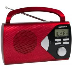 METRONIC - Rádio Portátil Vermelho 477201