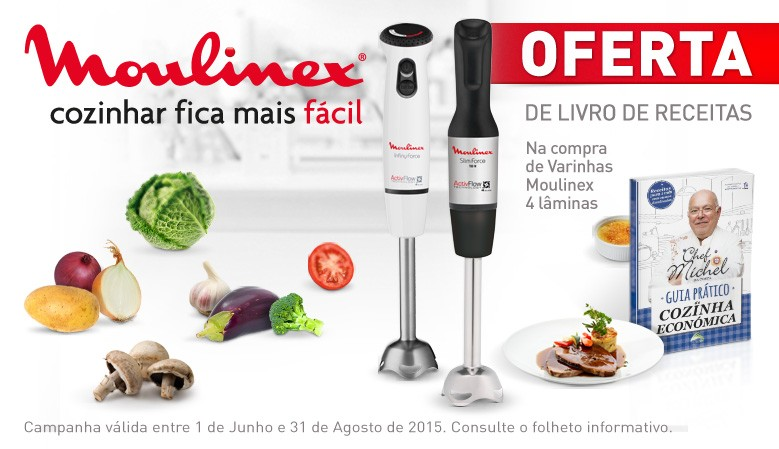 MOULINEX - OFERTA LIVRO RECEITAS Chef Michel